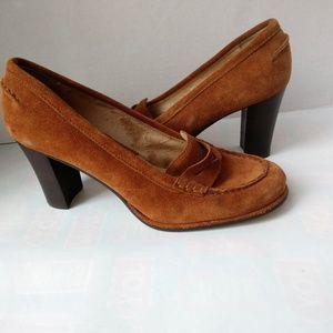 Michael Kors Women's Tan Suede Loafers Pumps 7.5